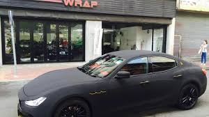 velvet wrapped cars maserati ghibli with matte black suede wrap looks striking