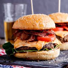 cuisine burger bacon cheeseburger simply delicious