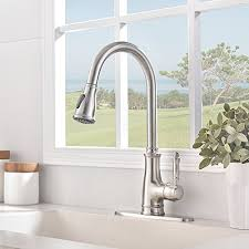 Brushed Nickel Kitchen Faucets Touch On Kitchen Sink Faucets Vesla Home Commercial Stainless