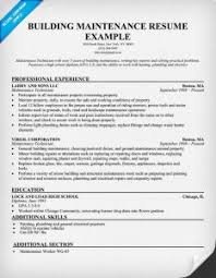 Maintenance Resume Examples by Sensational Design Building Maintenance Resume 3 Building