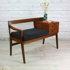 Table Furniture Design Vintage Teak 1960s Telephone Seat Telephone Teak And 1960s
