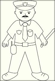 printable police officer coloring pages u0026 sheet color zini