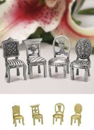 miniature chair place card holders