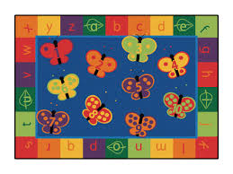 Abc Area Rugs Zoomie Camila 123 Abc Butterfly Area Rug Reviews