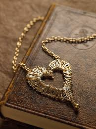 wire jewelry necklace images Solid heart pendant extract from how to make hammered wire jpg