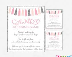 baby shower guessing baby shower candy guessing pink and gold baby