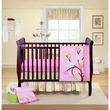 Pink Brown Crib Bedding Bedroom Nursery Ideas For Pink And Grey Modern Colorblock