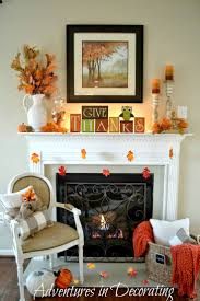 adventures in decorating our simple fall mantel fall fireplace decorautumn