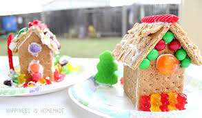 how to make graham cracker gingerbread houses happiness is homemade