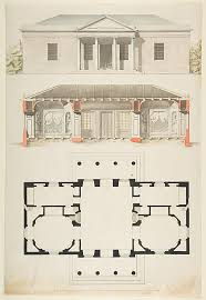 Met Museum Floor Plan by Anonymous French 18th Century Plan Elevation And Section For