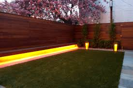 landscape lighting ideas outdoor backyard lounge area with garden