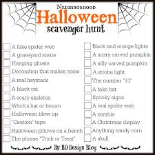 halloween mark neighborhood halloween scavenger hunt painted confetti