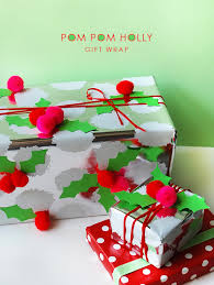 christmas gift wrap how to make christmas gift wrap with pom pom