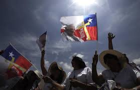 Mass Flag Love In The Air Pope Marries Couple On Papal Plane In Chile Am