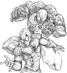 venom spiderman coloring pages kids coloring