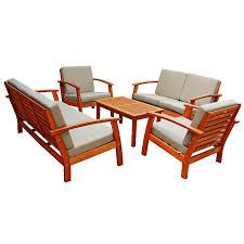 Patio Furniture Conversation Set Sets Teak Patio Furniture Teak Outdoor Furniture