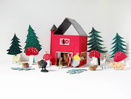 hello wonderful diy easy recycled cardboard play barn