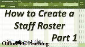 Staff Roster Template Excel Free Roster How To Create A Roster Template Part 1 Roster Tutorial