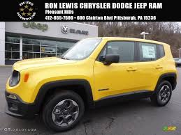 jeep renegade 2016 2016 solar yellow jeep renegade sport 4x4 111213696 gtcarlot