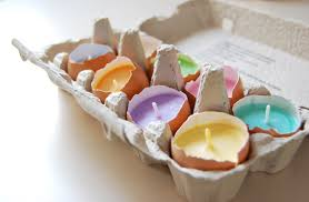 Home Decor Candles Easter Egg Candles Real Eggshells Candles Set Of 10