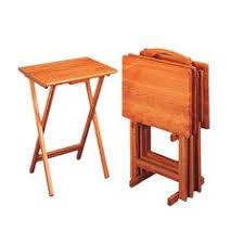 Folding Tray Table Set Hawthorne 5 Piece Folding Tray Table Set Trays And Tv Trays