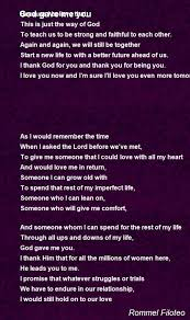 god gave me you poem by rommel filoteo poem