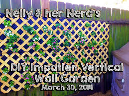 diy impatien vertical wall garden march 30 2014 youtube