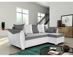 canapé convertible gris et blanc canap blanc gris excellent marius canap duangle droit places