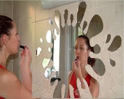 classikool acrylic splash splat bathroom mirror fun for toilets
