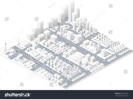 skyscraper floor plan vector isometric center city on map stock vector 336763565