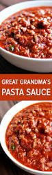 great grandma u0027s pasta sauce table for two