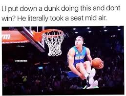 Take A Seat Meme - memes suggesting aaron gordon was robbed by zach lavine in the dunk