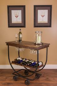 hand crafted vintage wine cart