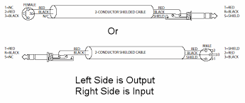 trs wiring diagram u0026 3 5mm stereo to 2 x 1 4
