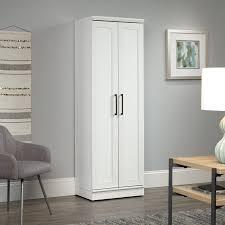sauder homeplus four shelf storage cabinet sauder homeplus storage cabinet soft white finish walmart com