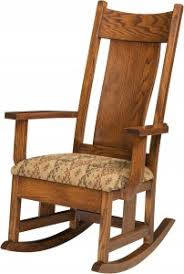 Amish Chair Springfield Rocker Amish Furniture Showcase