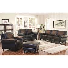 Living Room Set Furniture by Venezia 4 Piece Top Grain Leather Living Room Set
