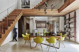 modern two story house plans inspiring tips how to apply soft wooden interior in modern two