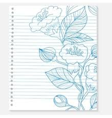 sketch drawing boat on lined paper page royalty free vector