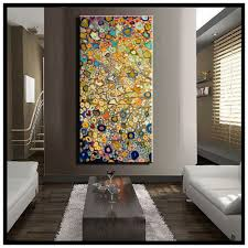 wonderful large vertical wall art or single abstract flower huge oil painting on canvas modern