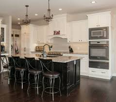 white kitchen black island white kitchen cabinets with black island varnished wooden wall
