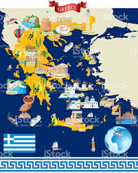 Map Of Athens Greece by Greece Cartoon Map Stock Vector Art 610769778 Istock