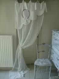 organdi de coton magnifique rideau feston bonne femme en linge ancien et voile de