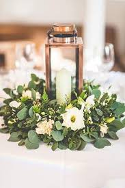 home design trendy hurricane candle centerpieces greenery