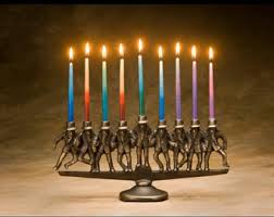 menorah tree of tree of menorah cast bronze 9 candle for hanukkah or