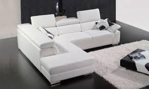 Floor And Table L Set White Leather Sectional Sofa Set With Low Height Coffee Table And