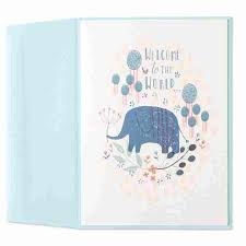 welcome to the world blue elephant by marcel schurman baby