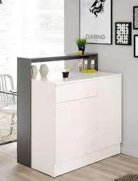 Wohnzimmerschrank Mit Bar Esszimmerschrank Mit Klapptisch Kendra 1 104x115x59 Grau Weiß