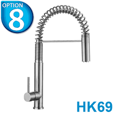 Astini Brushed Stainless Steel Monobloc Kitchen Sink Mixer Taps - Brushed steel kitchen sinks