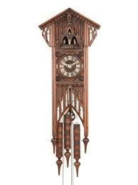 clocks cared style cuckoo clocks in brown with leaf for wall